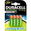 Baterie nabíjecí Duracell StayCharged AA, HR06, 2500mAh, Ni-MH, blistr 4ks