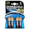 Baterie alkalická Duracell Turbo AA, LR06, blistr 4ks
