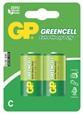 Baterie zinkochloridová GP Greencell C, R14, blistr 2ks