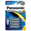 Baterie alkalická Panasonic Evolta AAA, LR03, blistr 4ks