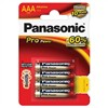 Baterie alkalická Panasonic Pro Power AAA, LR03, blistr 4ks